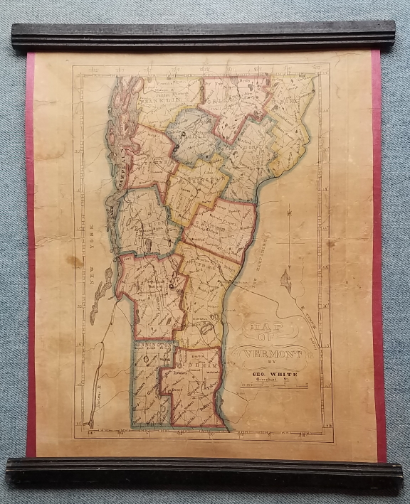 Map of Vermont, by Geo. White, Greenbush Vt. Vermont., George White.