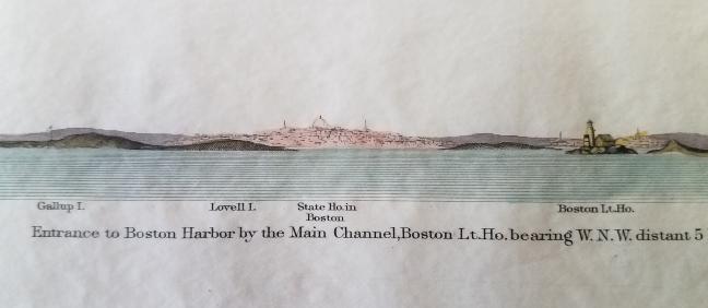 Entrance to Boston Harbor by the Main Channel. Boston Harbor/Cohasset/Scituate Approach Views., U S. Coast Survey.