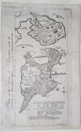 Plan of the Town of Boston, with the Attack on Bunkers Hill in the Peninsula of Charlestown, the...