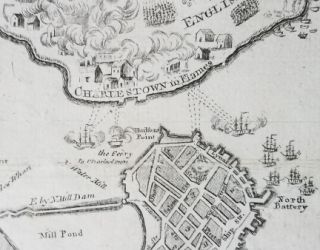 Plan of the Town of Boston, with the Attack on Bunkers Hill in the Peninsula of Charlestown, the 17th June 1775.