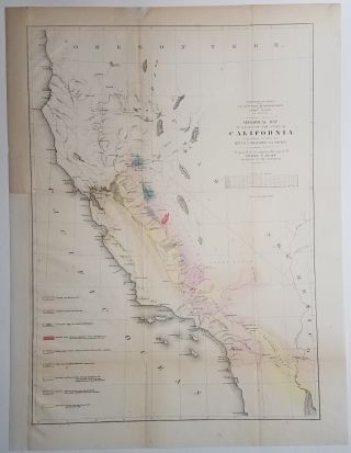 Geological Map of a Part of the State of California Explored in 1853. Map., R. S. Williamson, U....