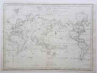 A General Chart of the World on Mercator's Projection, exhibiting all the New Discoveries and the...