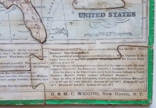 United States. [Title on Box:] The Silent Teacher! Wiggin's Sectional Geography of the United States and World.