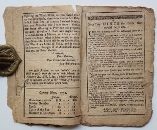 [Early American Almanac.] Poor Job, 1752. An Almanack for the Year of Our Lord 1752...