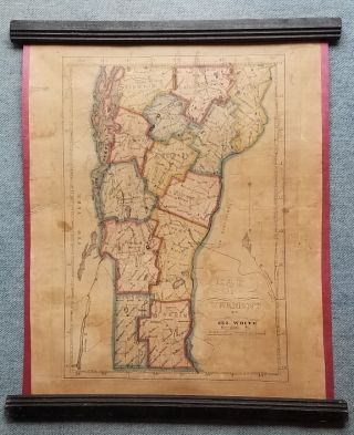 Map of Vermont, by Geo. White, Greenbush Vt