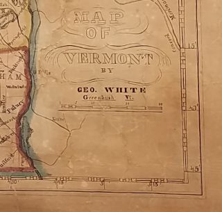 Map of Vermont, by Geo. White, Greenbush Vt.