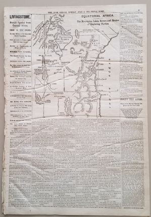 Equatorial Africa. The Mountains, Lakes, Rivers and Routes of Exploring Parties. Map appearing in the New York Herald, July 2, 1872.