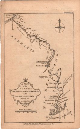 Benedict Arnold's 1775 Trek Across Maine to Quebec] A View of the Rivers Kenebec and...