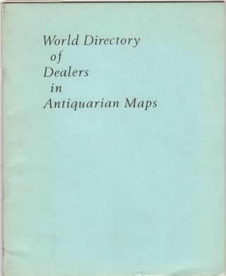 World Directory of Dealers in Antiquarian Maps. Map Dealers., George Ritzlin