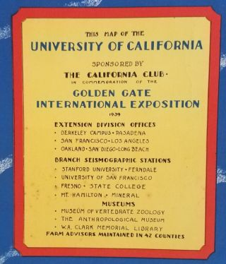 Map of the University of California.