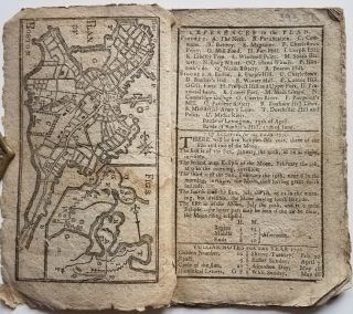 Plan of Boston [appearing in] Bickerstaff's New-England Almanack, for the Year of Our Lord 1776 ...
