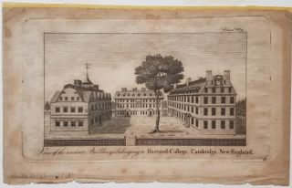 View of the ancient Buildings belonging to Harvard College, Cambridge, New-England. [with] The Columbian Magazine for December, 1788.